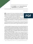 Informe Sobre la Violencia en América Latina