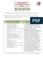 Los aportes de la psicología y la sociología al estudio de la infancia.