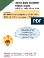 External and Internal Criticism