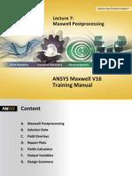 Maxwell v16 L07 Postprocessing