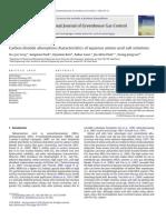 Carbon dioxide absorption characteristics of aqueous amino acid salt solutions