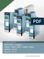 SIPROTEC Catalog SIP3.01