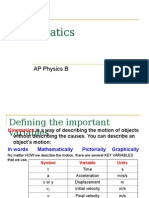 AP Physics B - Kinematics