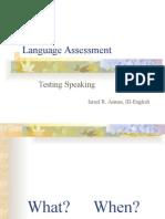 Testing Speaking Israel