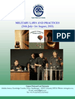 Brochure Military Laws and Practises 26th July-1st August, 2015