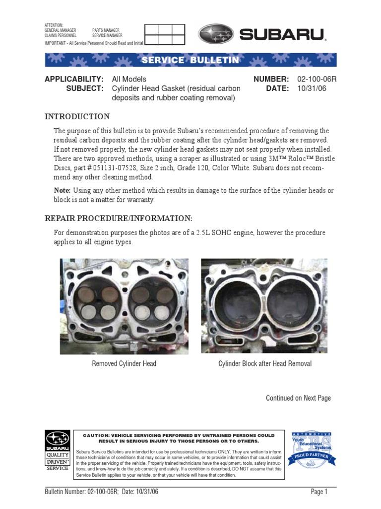 TSB | Internal Combustion Engine | Motor Oil