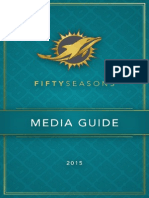 2015 Miami Dolphins Official Media Guide