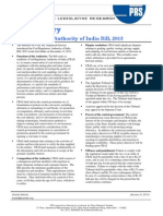 Bill Summary- Coal Regulatory Authority Bill