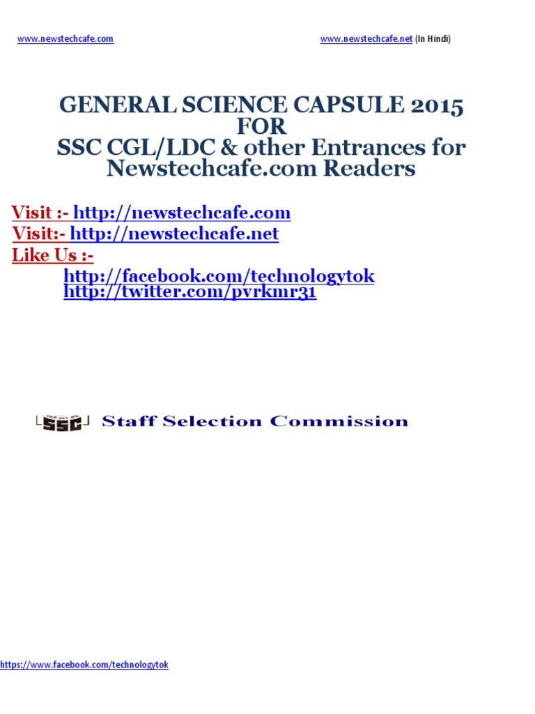 General Science Capsule Pdf For Rrb