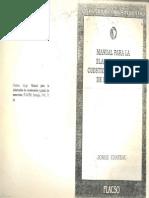 CHATEAU -Manual Para La Elaboración de Cuestionarios y Pautas de Entrevistas