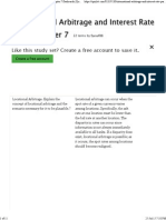 International Arbitrage and Interest Rate Parity Chapter 7 Flashcards _ Quizlet