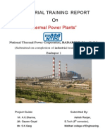 Industrial Report  at NTPC Badarpur,( New Delhi )