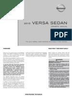 2015 VersaSedan Owner Manual