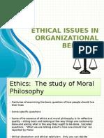 ethicalissuesinorganizationalbehavior-120403155406-phpapp02