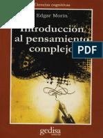 Edgar Morin, Introducción Al Pensamiento Complejo