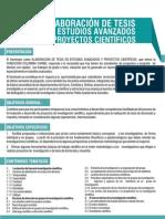 seminario elaboracion de tesis en estudios avanzados