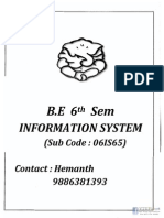 Information System NOTES by VKIT and BMSCE(Www.vtuplanet.com)
