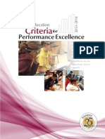 2013-2014 Criteria for Performance Excellence- Education