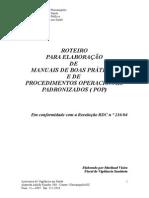 MANUAL PARA ELABORAR PROCEDIMENTO OPERACIONAL PADRONIZADO EM RESTAURANTES E/SERVIÇOS ALIMENTARES