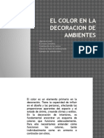 El Color en La Decoracion de Ambientes