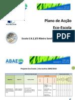 Plano Accao Ecoescola 2010 Escola Ribeiro Sanches Penamacor