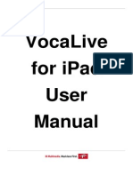 VocaLive iPad 2.0 User Manual