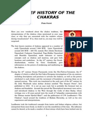 History of chakras  doc | Chakra | Kundalini