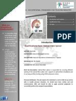 Qualifications Pack- Optical Fibre Splicer