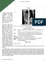 Cáncer - Wikipedia, La Enciclopedia Libre