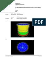 Modelamiento de un Tanque de Acero para almacenamiento de alcohol de 500lt. de capacidad con Sap 2000 14