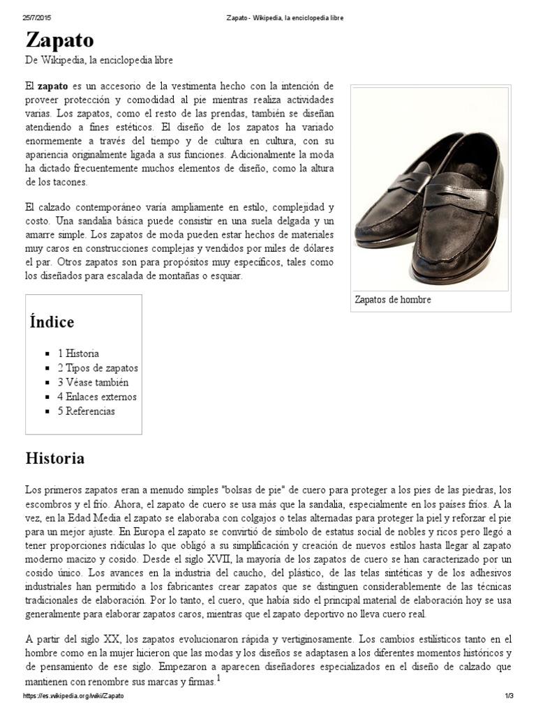 WikipediaLa WikipediaLa Enciclopedia Enciclopedia Zapato Zapato Libre Libre CxBtQdoshr