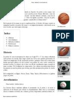 Pelota - Wikipedia, La Enciclopedia Libre