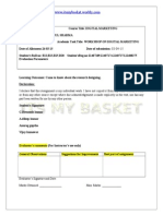digital marketing project on e mail