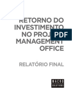 Cálculo Do Retorno Do Investimento Do Project Management Office (PMO) - Relatório de Exemplo