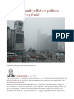 Are China's Anti-pollution Policies Already Bearing Fruit