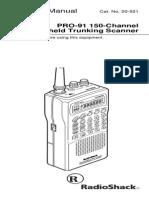 Radio Shack Pro-91 Scanner