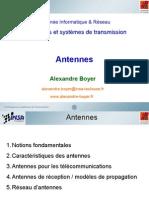 Antenna presentation Notions fondamentales Caractéristiques des antennes Antennes pour les télécommunications Antennes de réception / modèles de propagation Réseau d'antennes