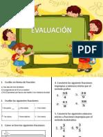 evaluacion fracciones