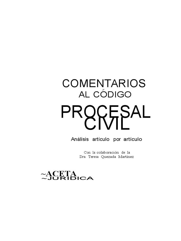 Comentarios Al Codigo Procesal Civil Peruano Tomo Iii