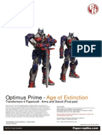 Optimus Prime AOE Arms