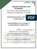 Departamentos Financieros y de Sistemas