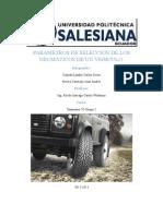 Parámetros de Selección de Los Neumáticos de Un Vehículo