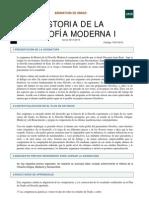 Historia de La Filosofía Moderna I Guia