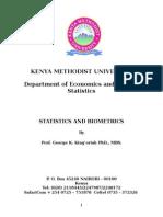 Statistics and Biometrics1