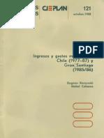 Ingreso y Gastos Municipales. Chile y Gran Santiago