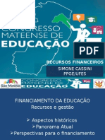 Congresso Financiamento Da Educacao