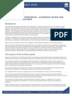 document 4 - evidence guide for supervising teachers report helper