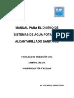 Manual de Diseño de Agua Potable y Alcantarillado Sanitario