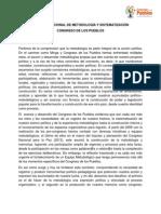 Comisión de Metodología y Sistematización