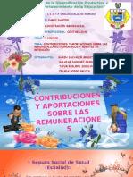 Contribuciones y Aportaciones Sobre Las Remuneraciones y Agentes de Retencion